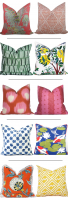 Colorful Spring Pillow Combos