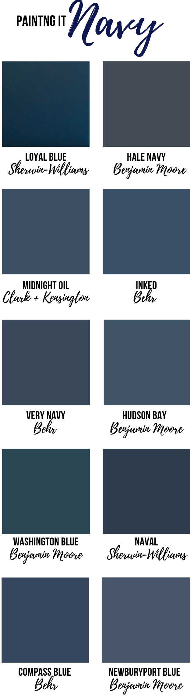 10 Pretty Relaxing Navy Paint Colors Emily A Clark