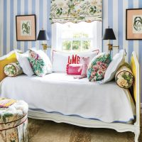 colorful-cottage-girls-bedroom-daybed-striped-walls