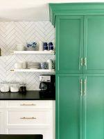 green-white-kitchen-cabinets-open-shelves