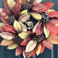 Fall-entryway-front-door-magnolia-wreath-Walmart