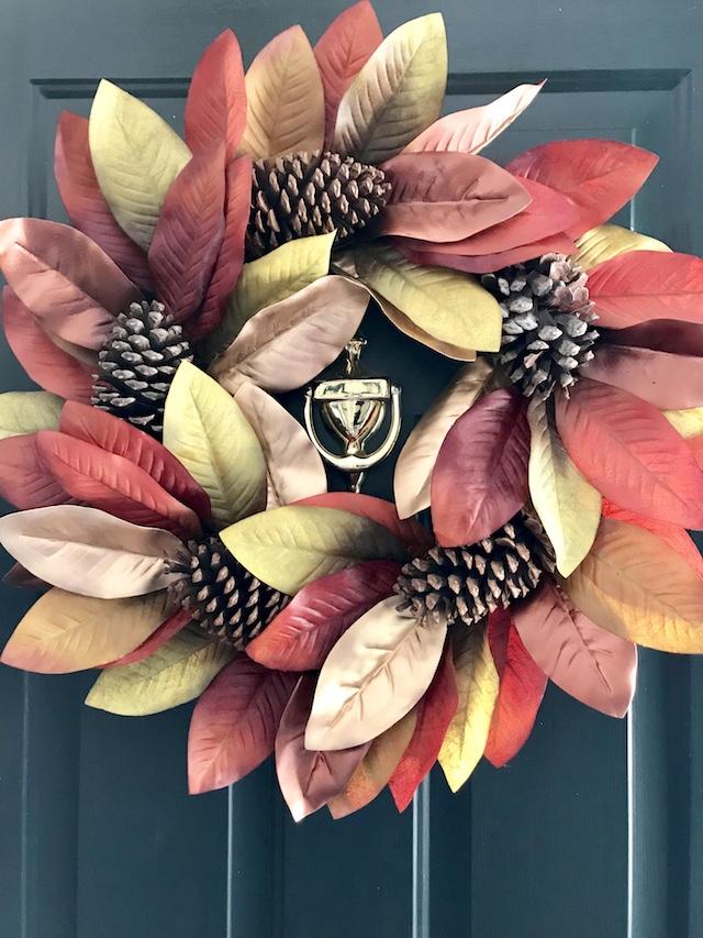 Fall-entryway-front-door-magnolia-wreath-Walmart
