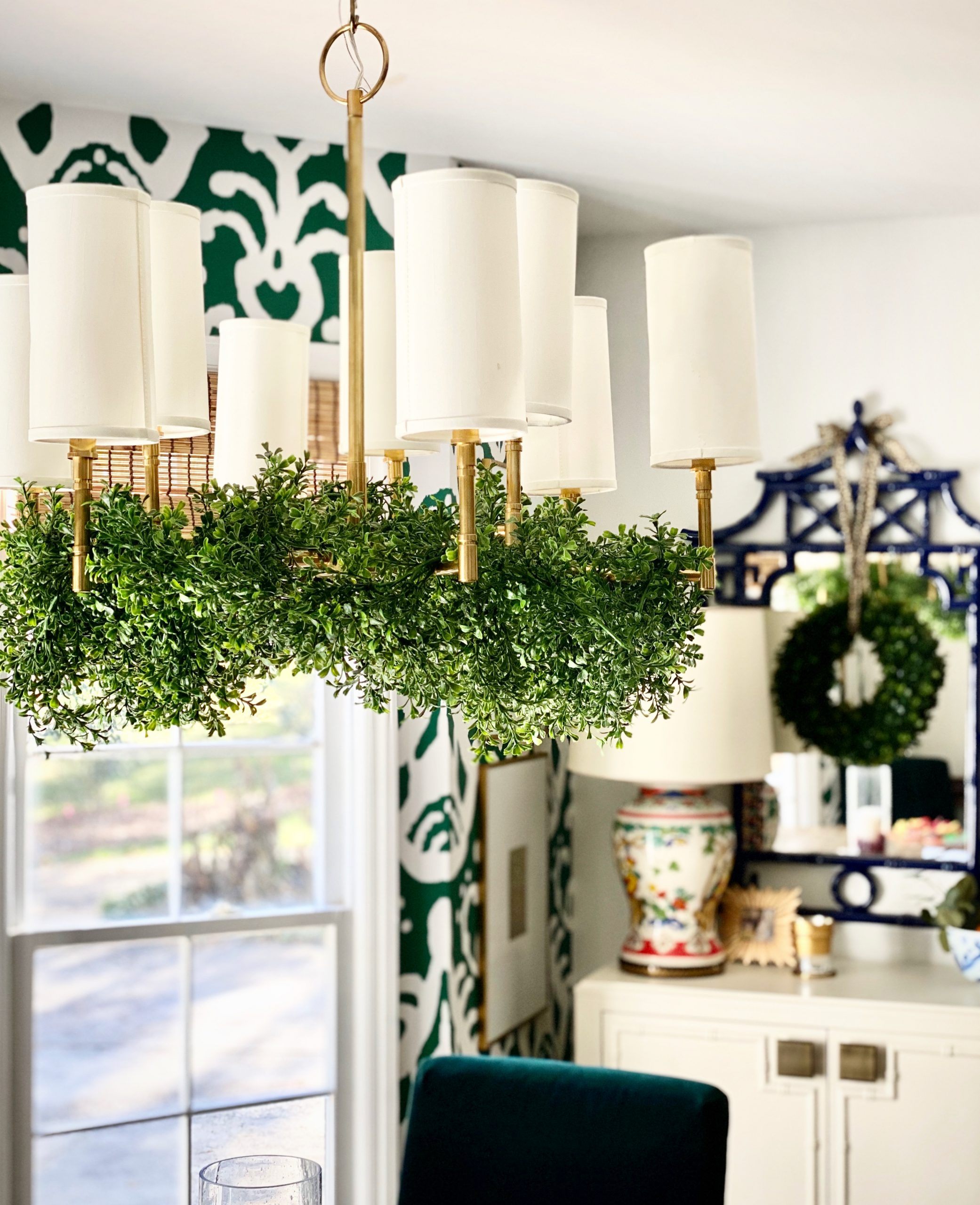 garland-from-chandelier