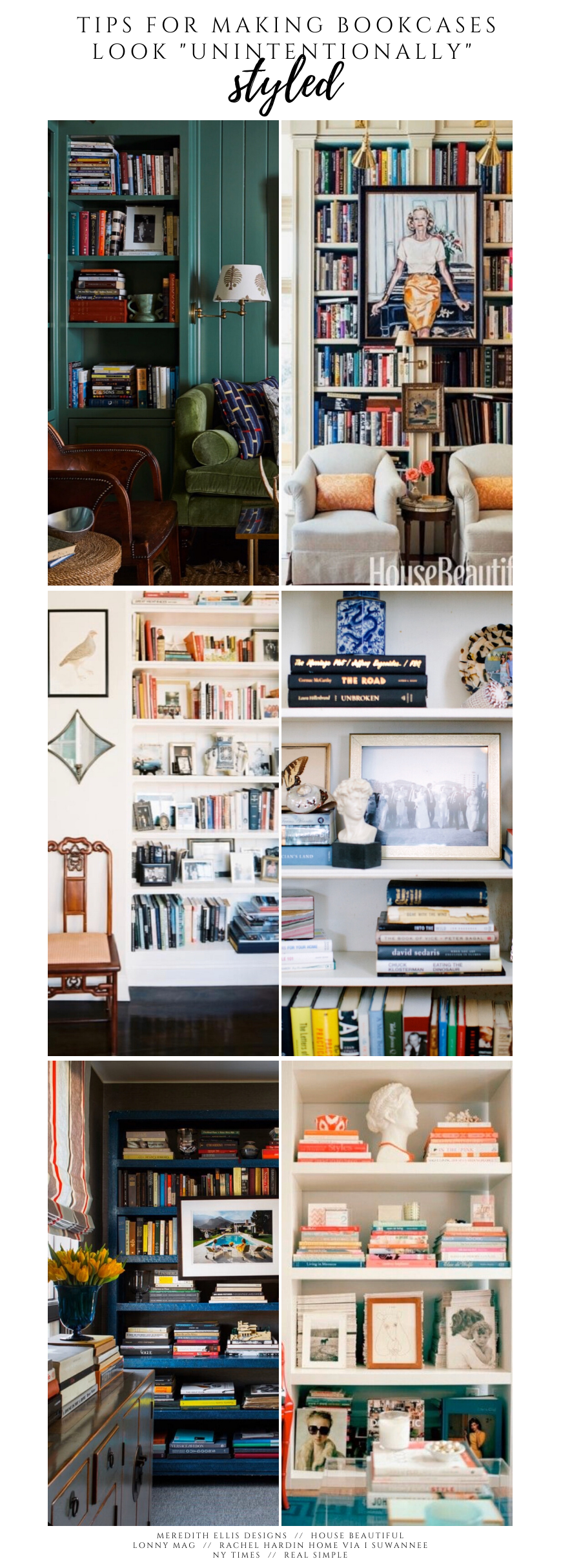 Unintentionally Styled Bookshelves TIPS