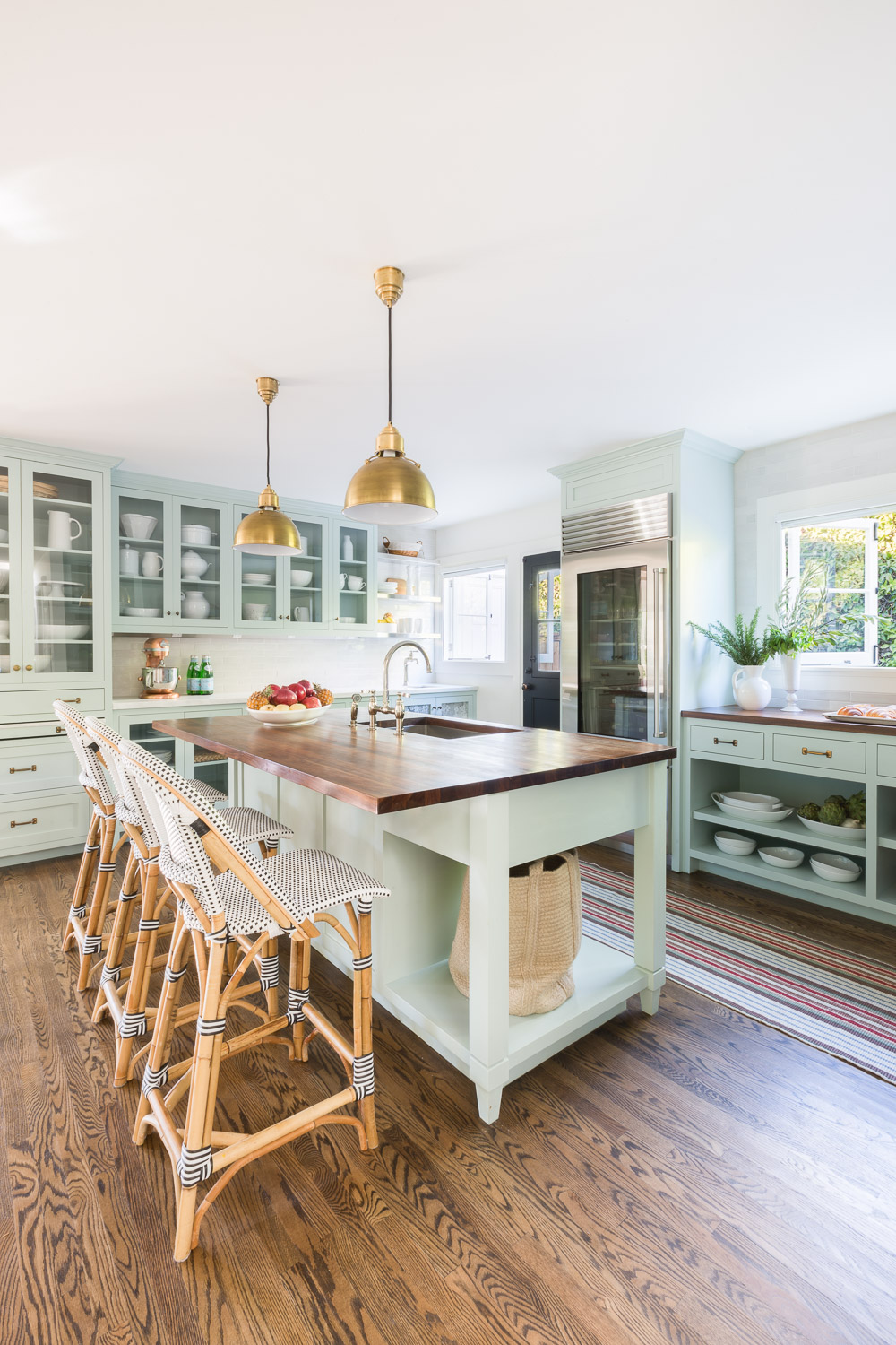 Mint-green-kitchen-cabinets