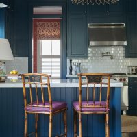 blue-kitchen-same-color-walls-cabinets