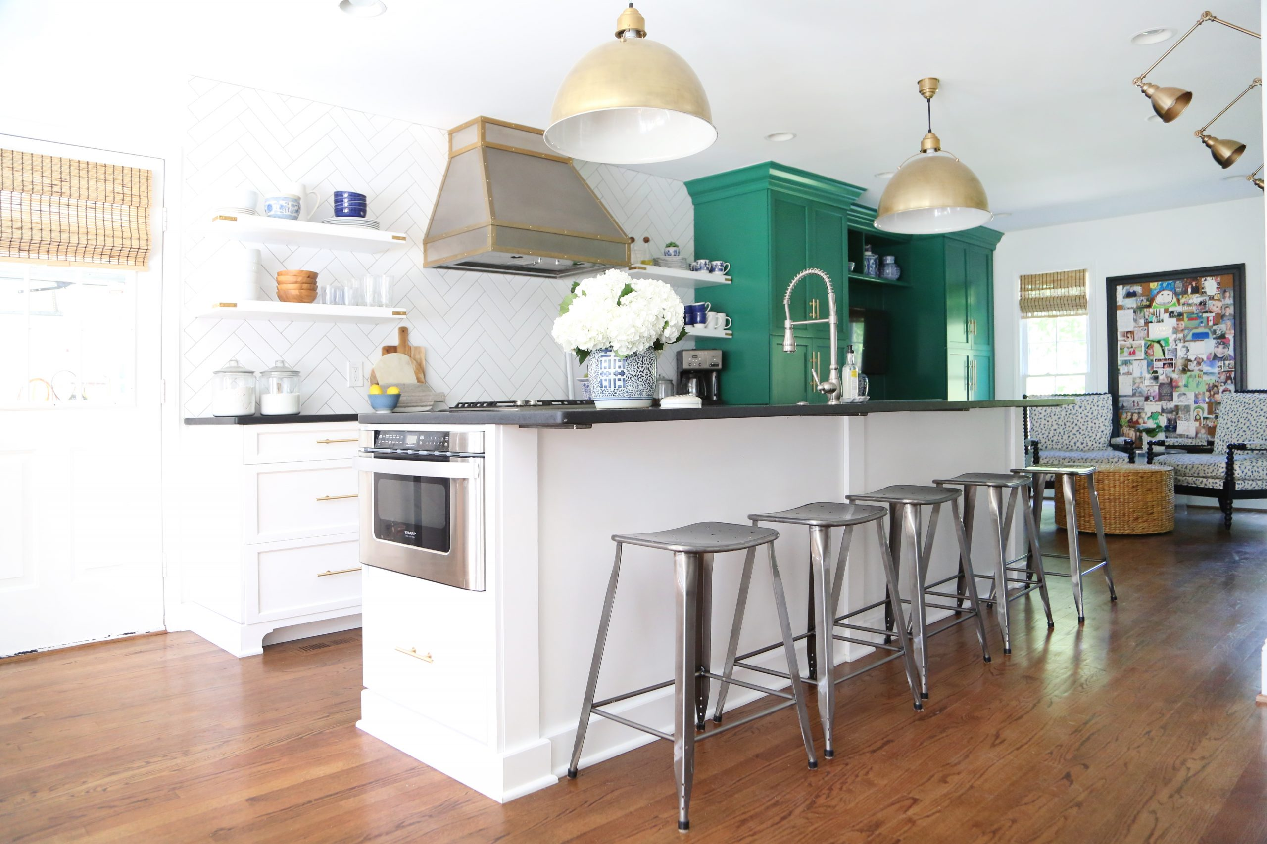 green-white-kitchen
