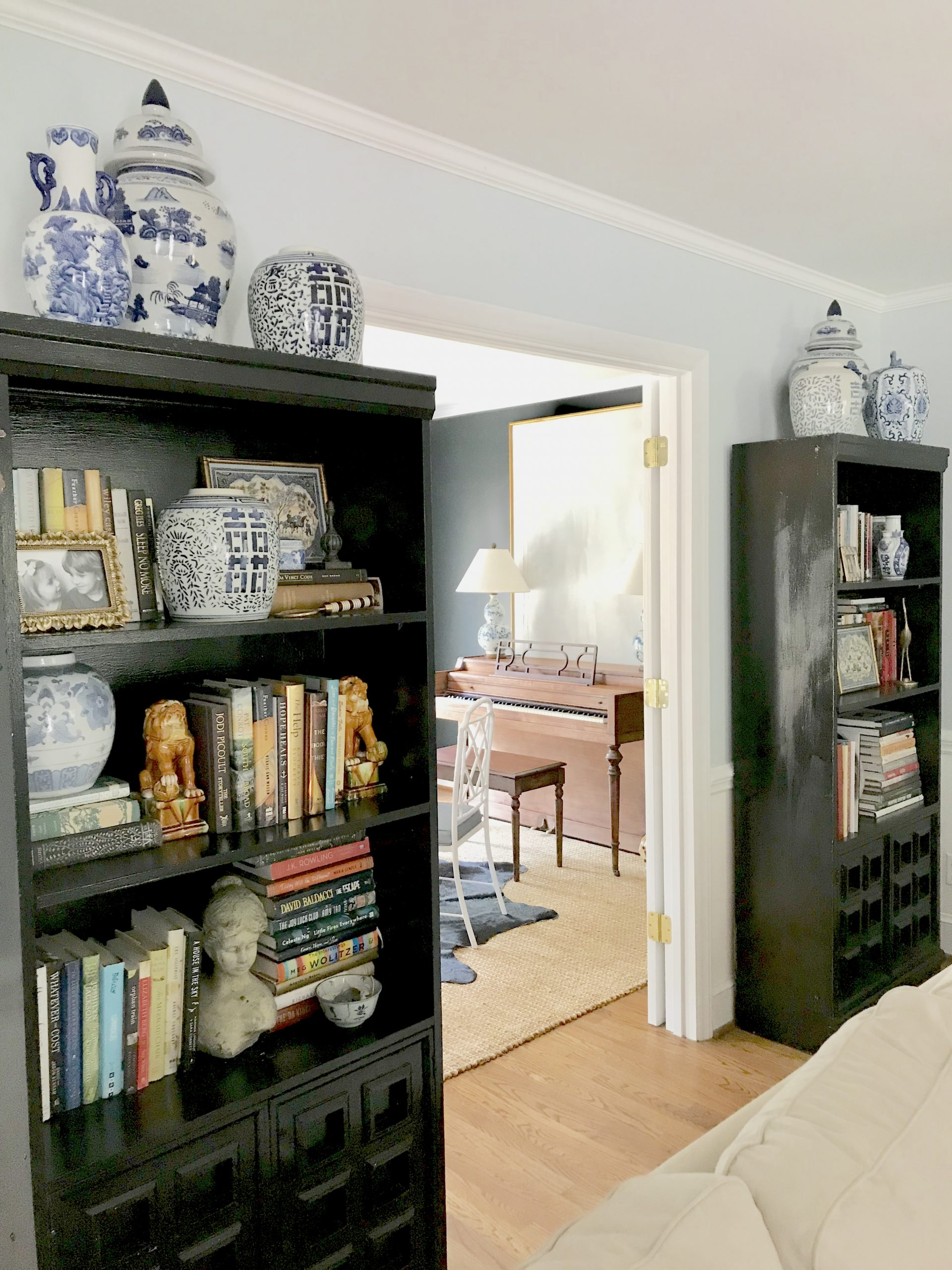 black-bookcases-living-room