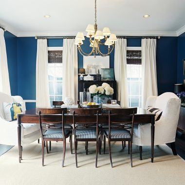 blue walls dining room