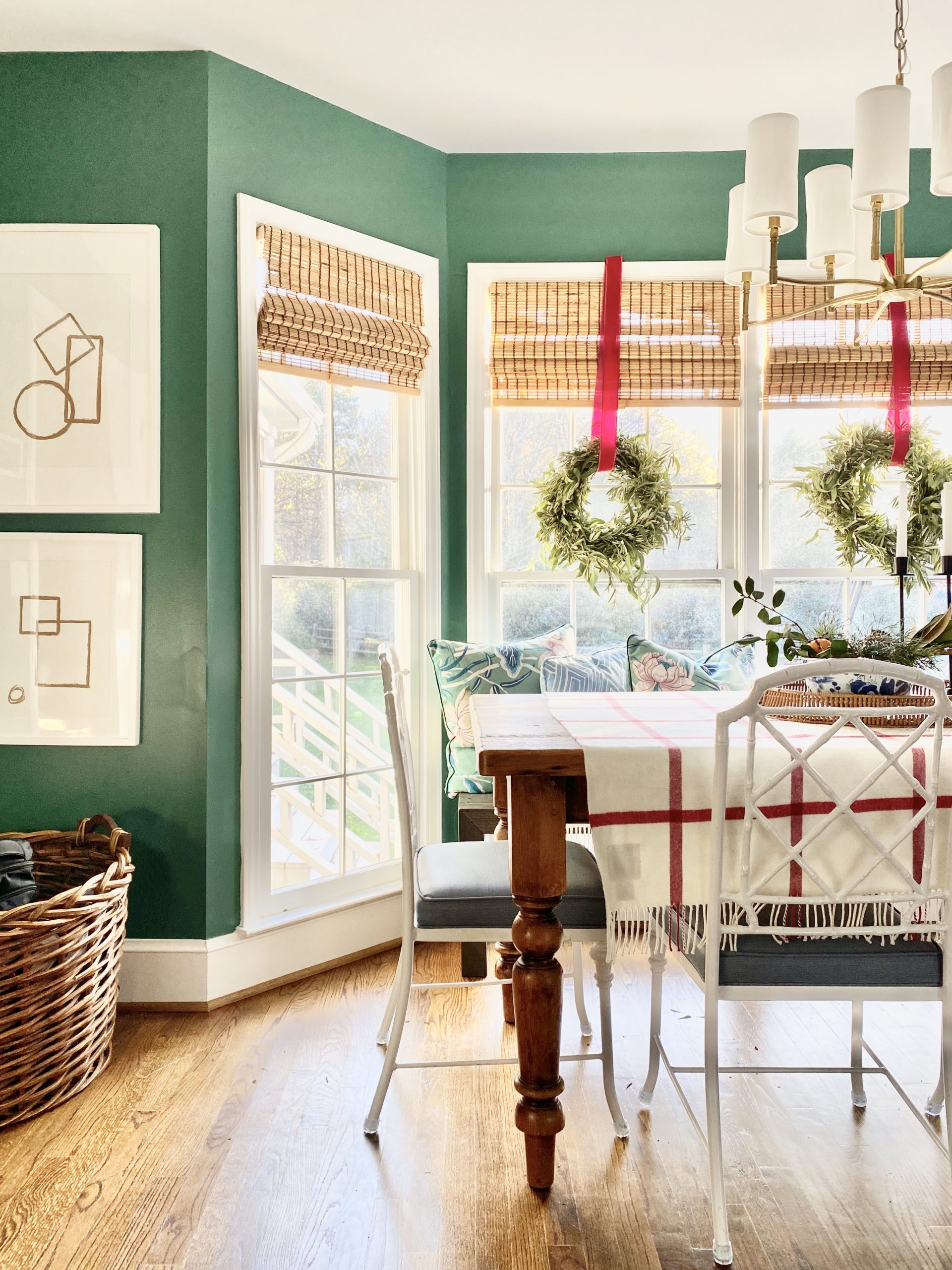 Colonial-Christmas-green-kitchen-home-tour