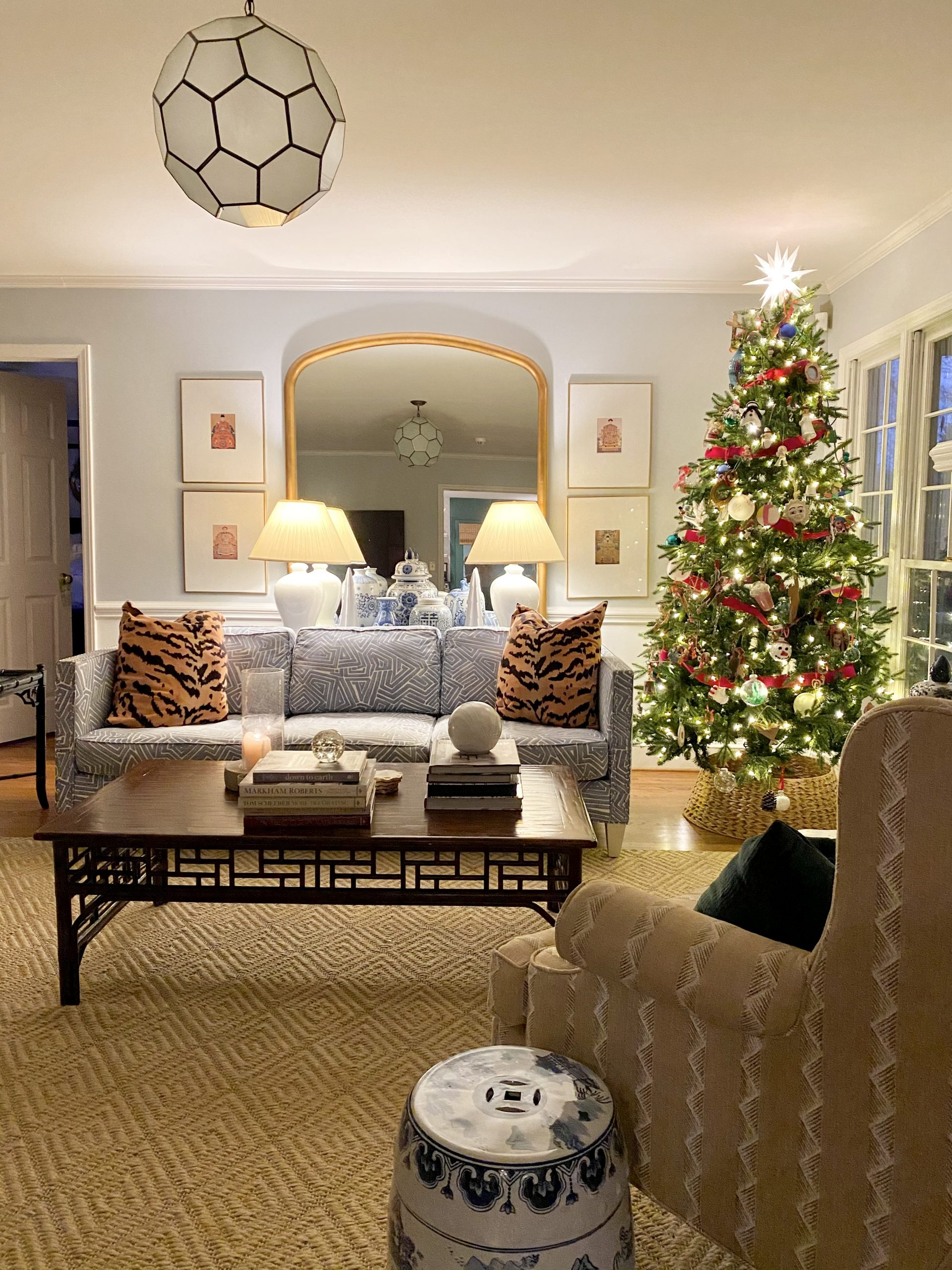 Colonial-home-tour-Christmas-living-room-night