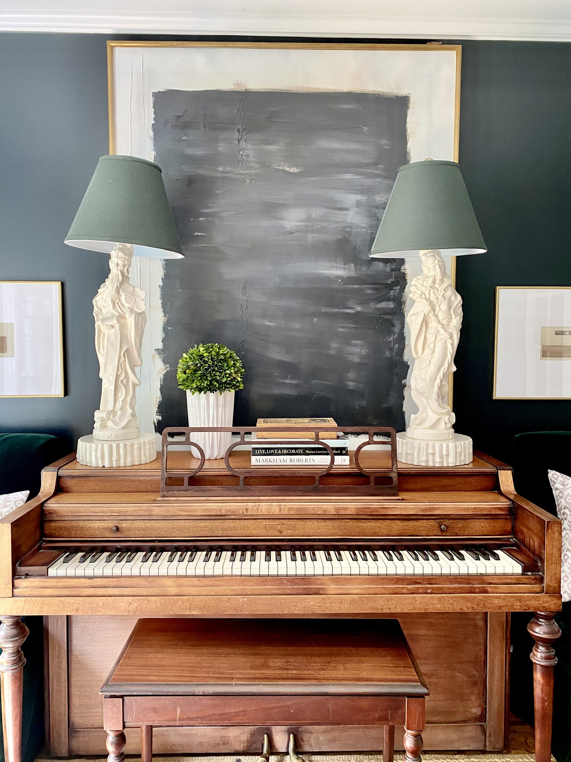 Decorating-over-piano-oversized-abstract-art