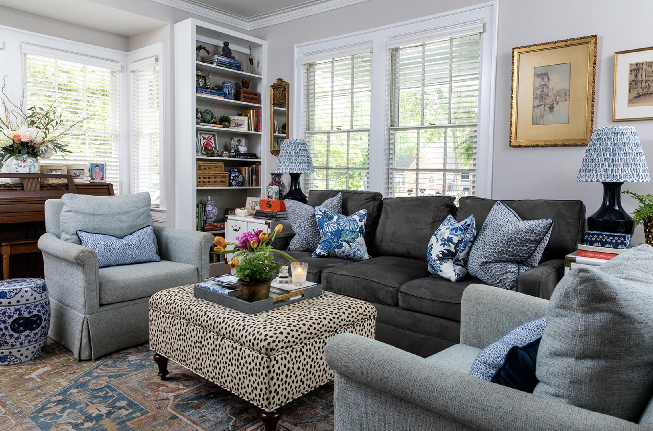 Coloful Traditional Home Camreron Jones Interiors 1