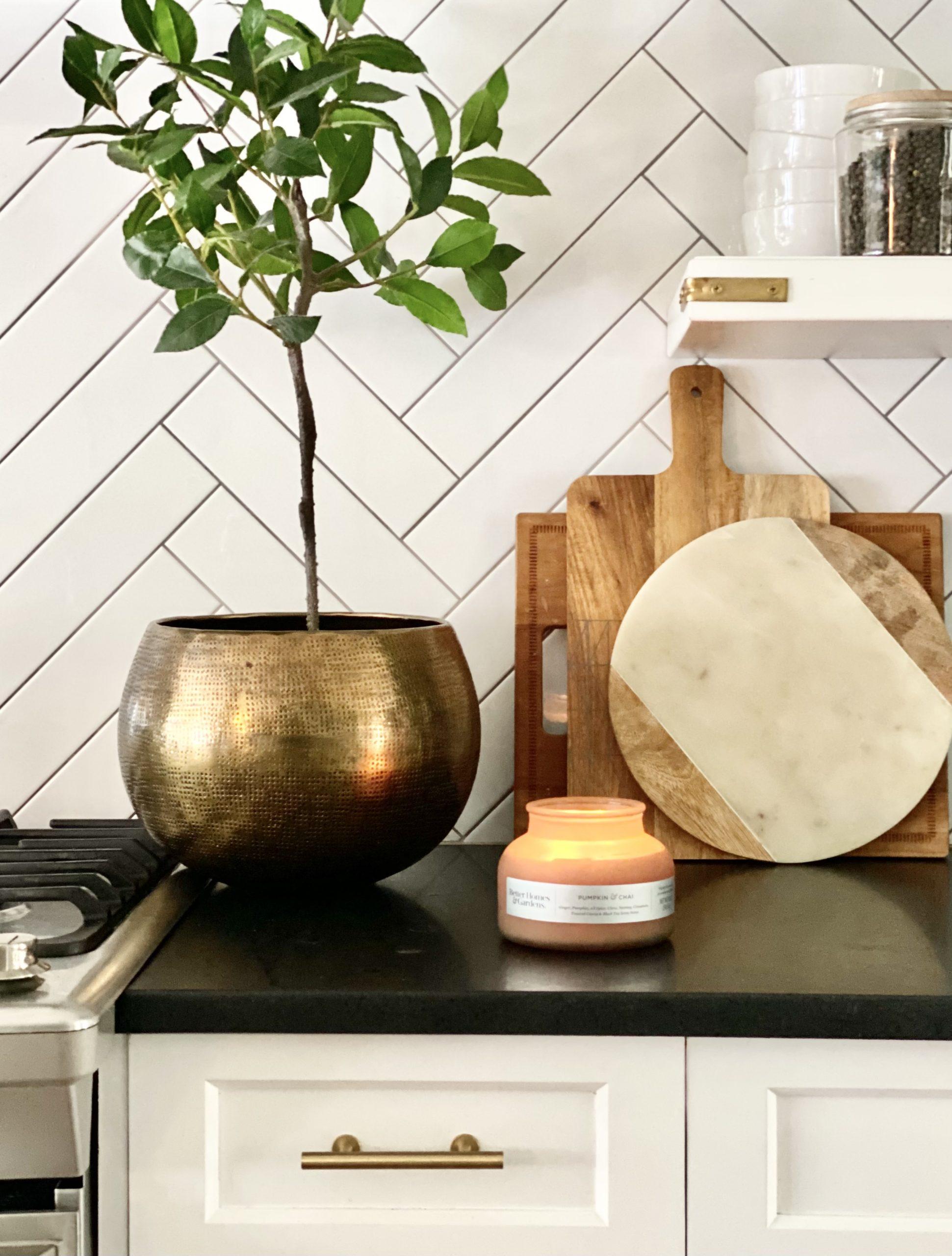 cozy-kitchen-countertop-decor-topiary