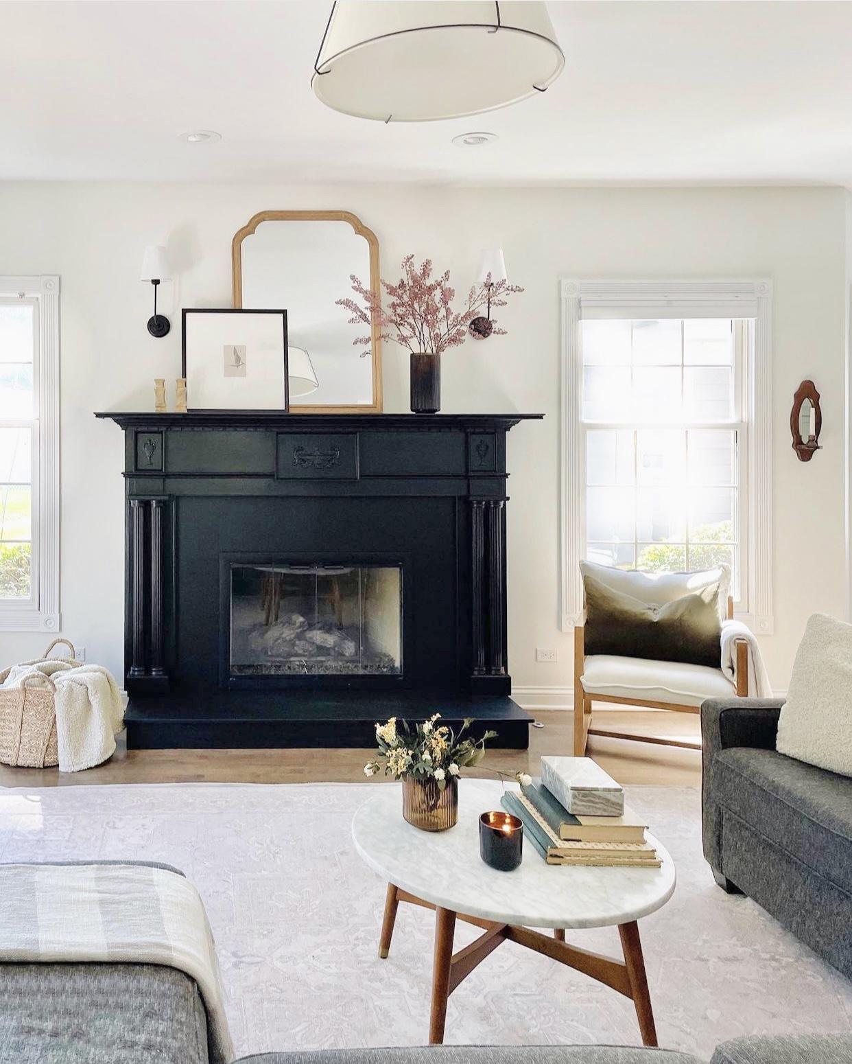 painted-black-fireplace-granite-surround